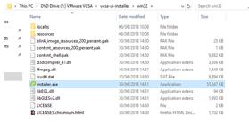 Win32 install folder