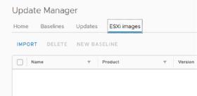 Import Update Manager